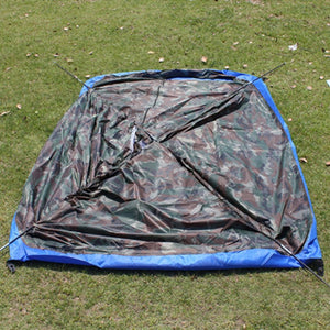 Single Layer Camouflage Anti-mosquito Portable Outdoor Waterproof Camping Tent For 2 Person
