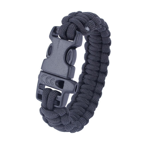 Army Utility Survival Paracord Bracelet For Camping Hiking With Braided Rope Whistle
