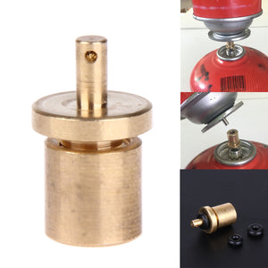 Camping Stove Metal Gas Refill Adapter Butane Canister Cylinder Gas Tank Burner