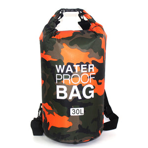 30L Bag Camouflage Portable Rafting Diving PVC Waterproof Folding Swimming Storage Bag for River Trekking Outdoor