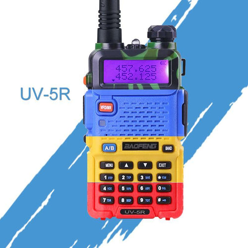 UV-5R Walkie Talkie Professional CB Radio Baofeng UV5R Transceiver 128CH 5W VHF & UHF UV 5R For Handheld Hunting Radio