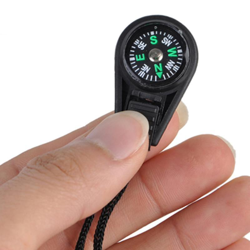 30pcs Key Chain Mini Outdoor Camping Hiking Finding Way Hiker Navigator Utility Gear Survival Compass Tool
