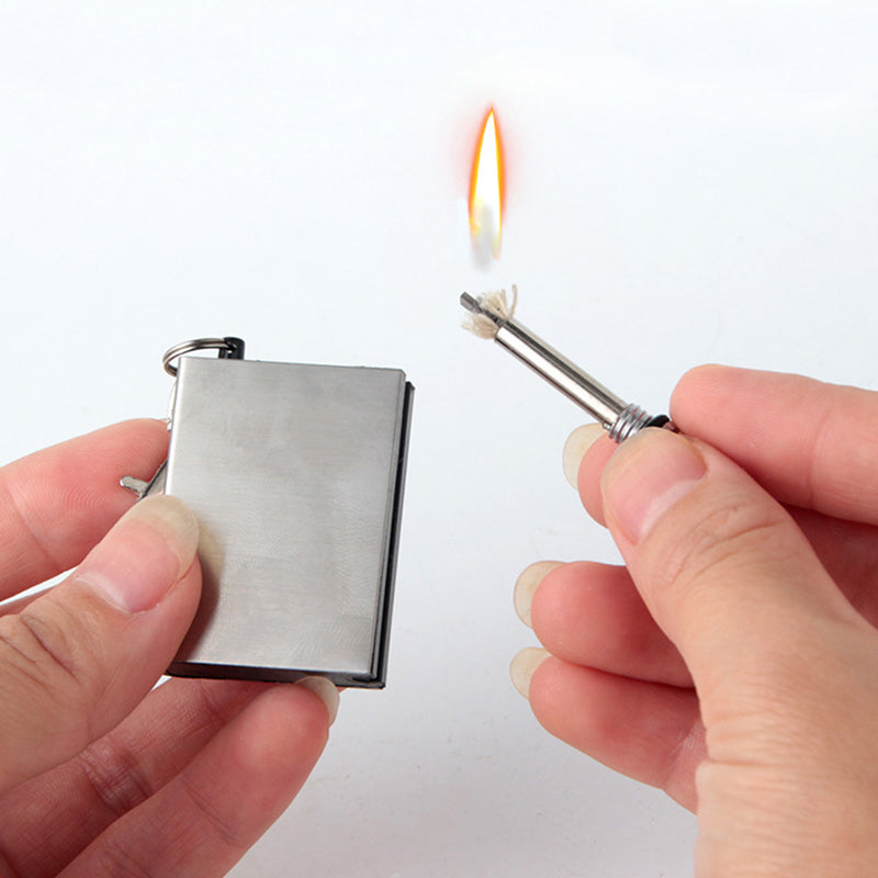 5PCS High Quality Stainless Steel Lighter Matches Flint Without Kerosene