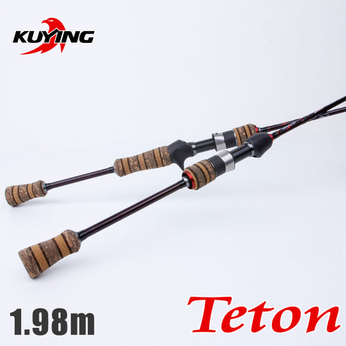 1.98m Soft Casting Spinning Lure Pole Light 2 Sections Carbon Fiber Medium Fast Action Combo 2-10g Fishing Rod