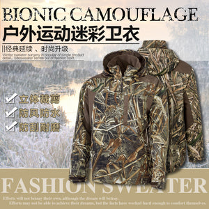 Outdoor Waterproof Velvet Warm Outdoor Bionic Camouflage Hunting Jacket