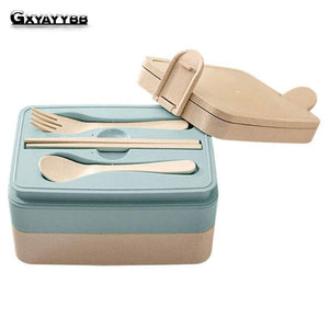 Wheat Straw Multifunctional Presere Ratio Lunch Boxs With Compartments Microwaveable Food Container