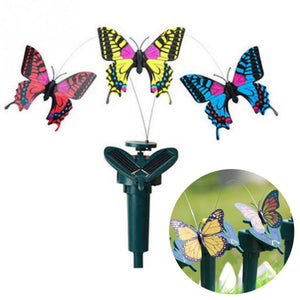 New Vibration Solar Power Dancing Flying Fluttering Butterflies Hummingbird Garden Decorative Stake