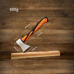 600g Multi-Functional Hatchet Carbon Steel with Fiberglass Handle Single Bix Tomahawk Axe Outdoor Survival