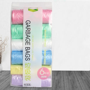 6 Rolls Thicken Kitchen Garbage Bag Trash Can Bin Disposable Plastic Bags