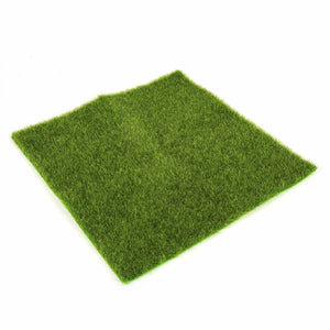 2 Sizes Fake Artificial Grass Micro Landscape Home Ornament Aquarium Decoration