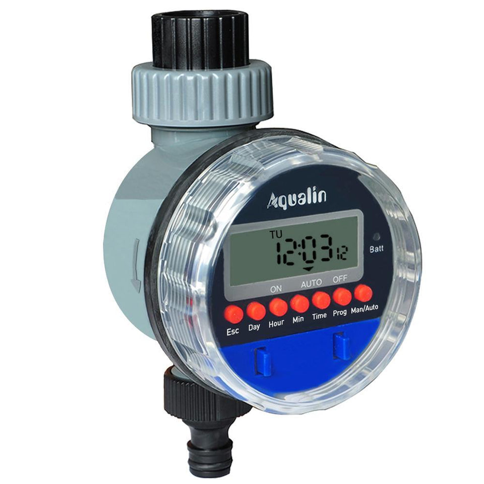 Automatic Electronic Ball Valve Water Timer Home Garden Irrigation Controller with LCD Display