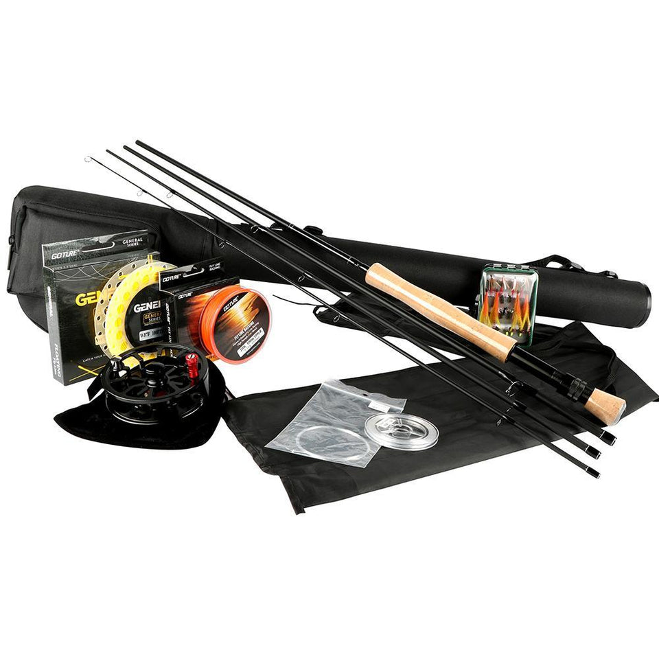 2.7M Fly Fishing Rods 5/6 7/8 CNC-machined Aluminum Reel with Fishing Lures and Lines Combo Set