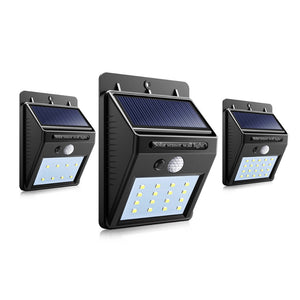 LED Solar Power PIR Motion Sensor Wall Light Waterproof Street Yard Home Garden Security Lamp Auto ON/OFF