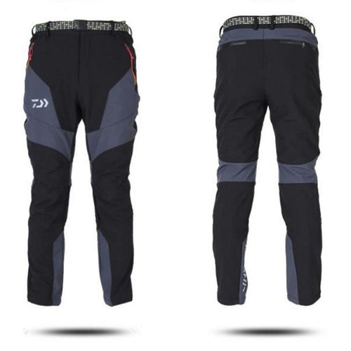 Autumn And Winter Soft Shell Waterproof Outdoor Pants Trousers Plus Velvet