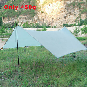 450g 20d Silicone Nylon Rain Fly Tent Tarp Shelter Camping Shelter Sun Shelters And Sunshade