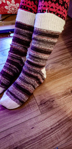 Hand-knitted stockings