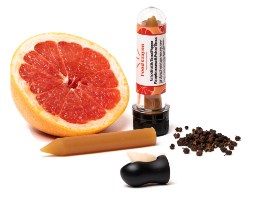 Food Crayon Grapefruit & Pepper Pencil