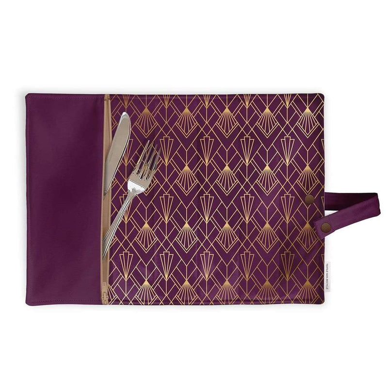 Lunch box placemat - Art Deco