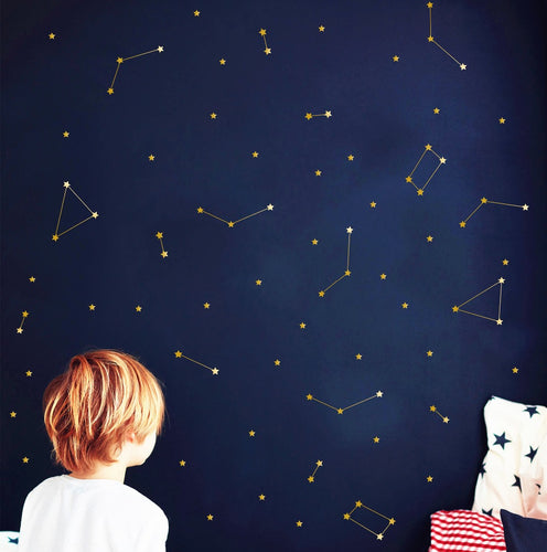 Special Art Constellation wall decal Zodiac Astronomy stickers Kids bedroom Decor Mural Outer Space Bedroom Wall Sticker NY-417