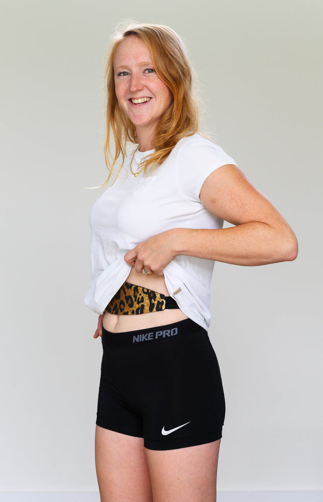 Animal Print Tuck-Away PD Belt