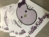 Hello Kidney sticker