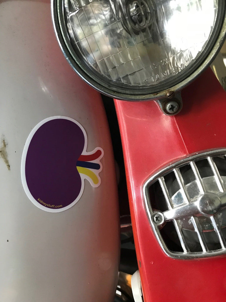 Purple Kidney Sticker