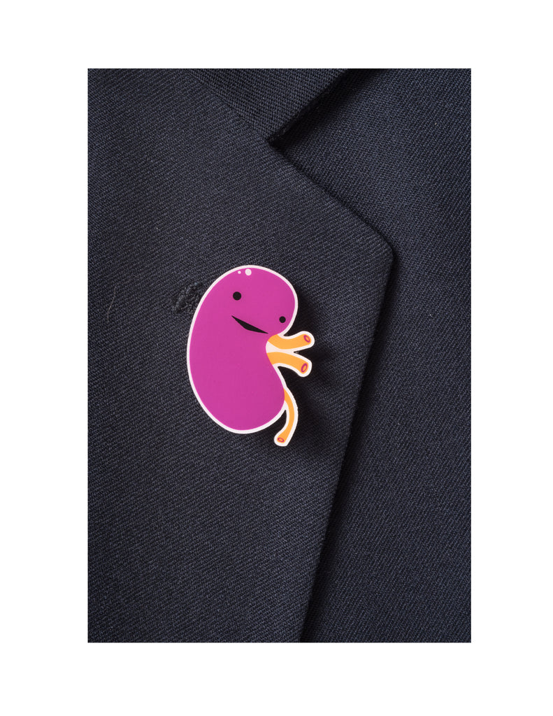 Kidney Lapel Pin