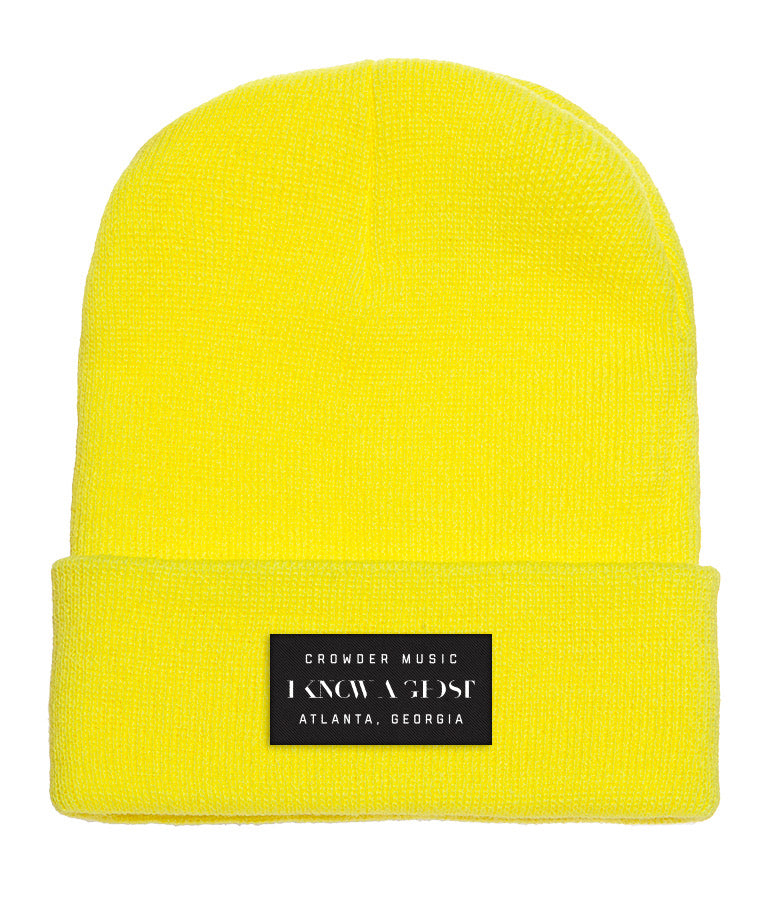 I Know A Ghost Beanie Yellow