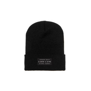 I Know A Ghost Beanie Black