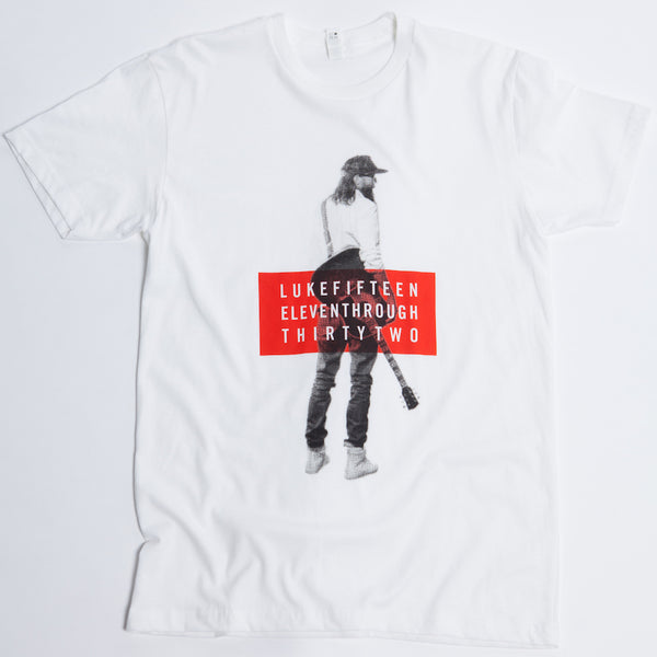 "White David Crowder ""Luke Fifteen Eleven Through Thirty One"" T-shirt ."