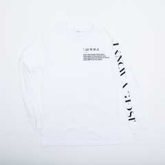 I Know A Ghost Crowder White Longsleeve