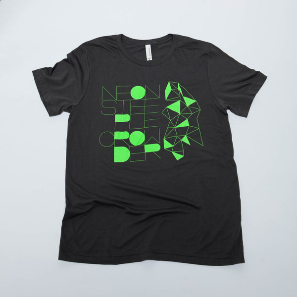 Gray David Crowder neon steeple t-shirt.