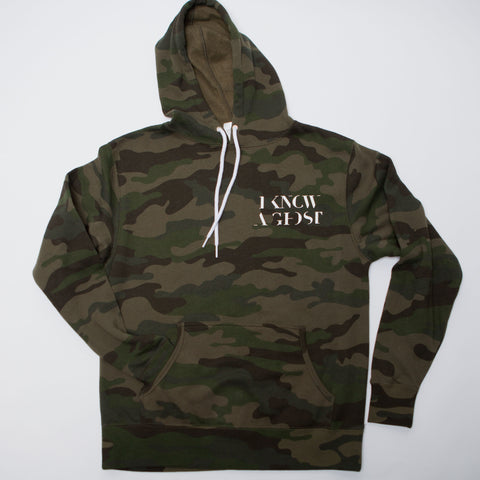 I Know A Ghost Camo Crowder Hoodie