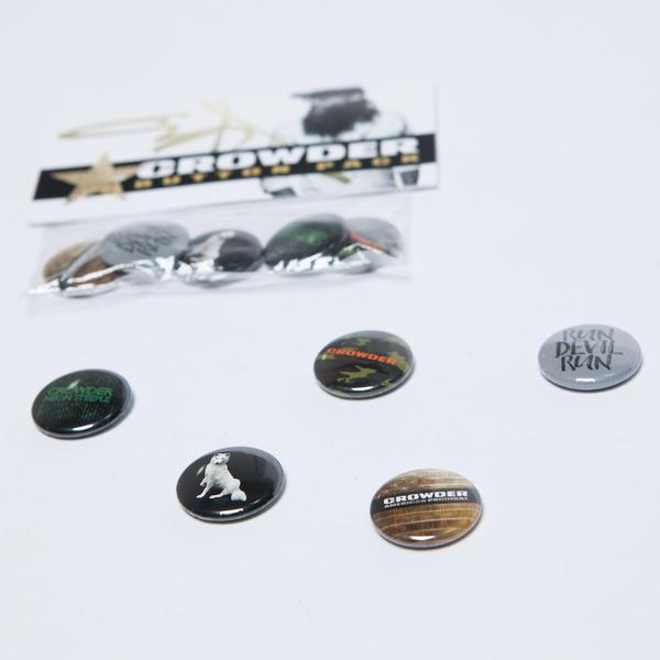 Crowder Music Button Pack with 5 Buttons