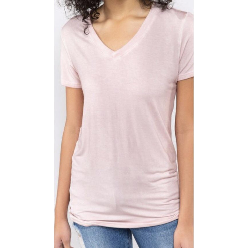 Short Sleeve Pink Basic Tee