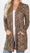 Animal Print Open Cardigan