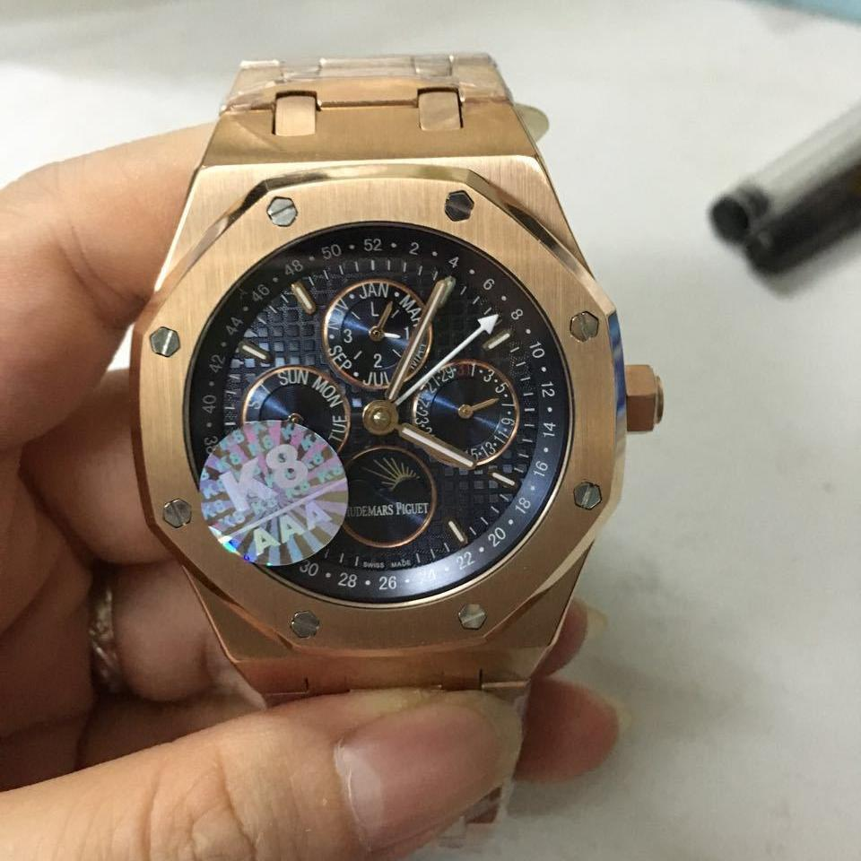 AP multifunction automatic rose gold blue - Grandeur Lux