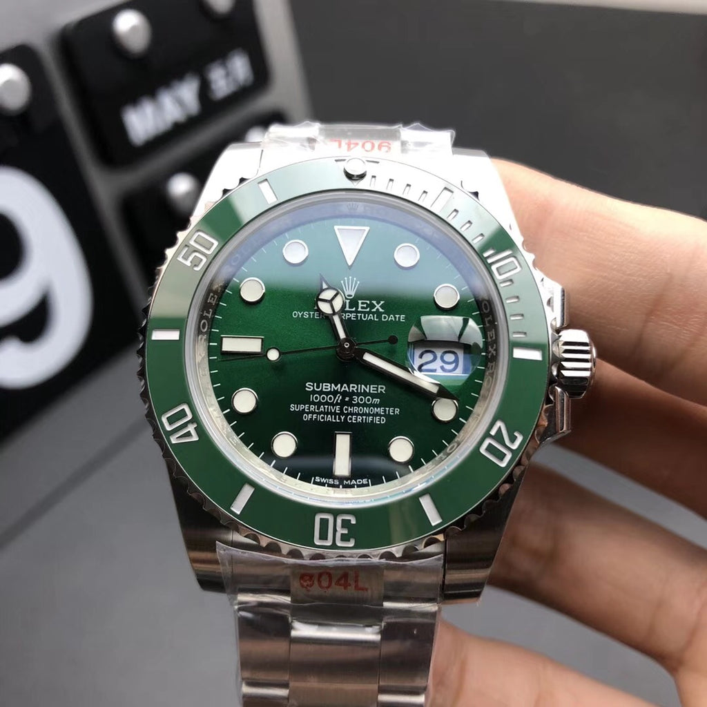 Rolex Hulk-Noob factory 3135 Automatic Movement 28800bph