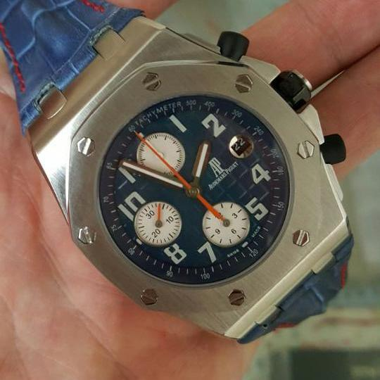 AP automatic chrono Blue Leather
