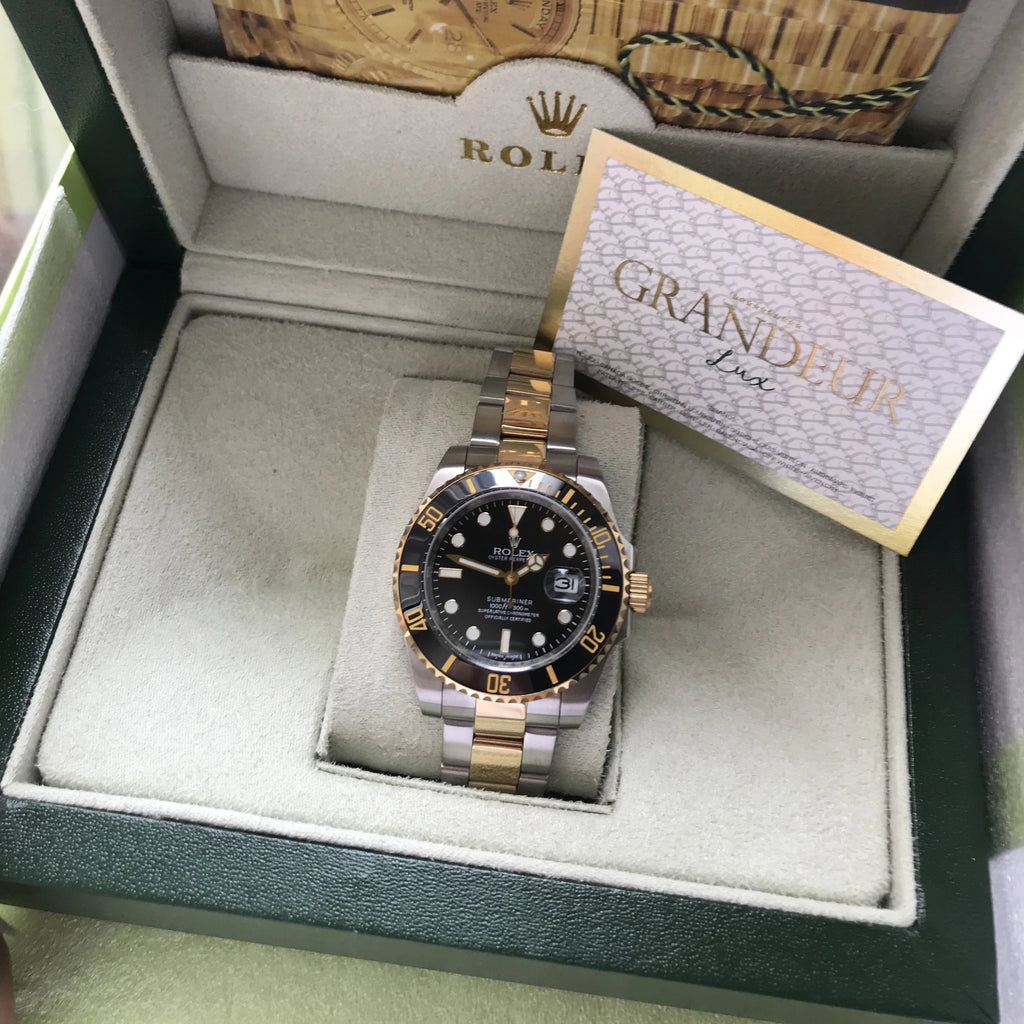 Submariner silver black EXCLUSIVE - Grandeur Lux