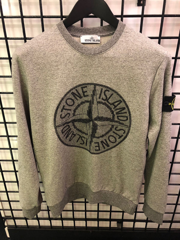 Stone Island SS18 Compas Sweater Gray