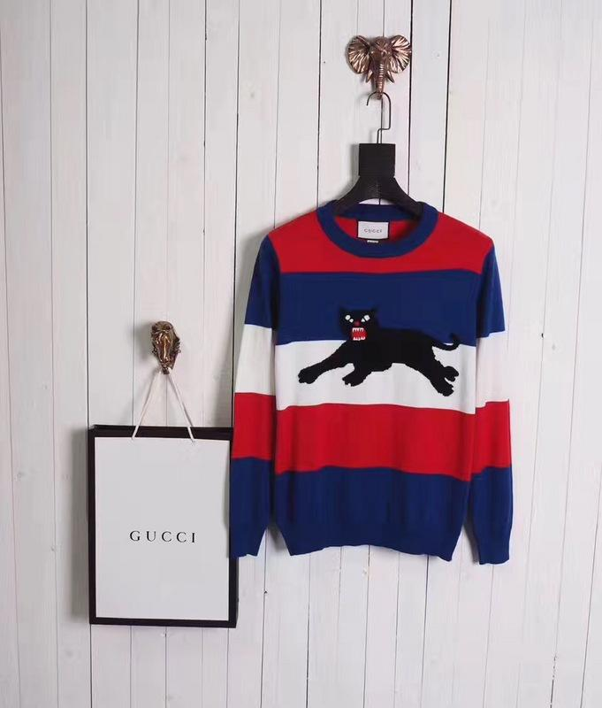 Gucci Sweater Striped Panther - Grandeur Lux