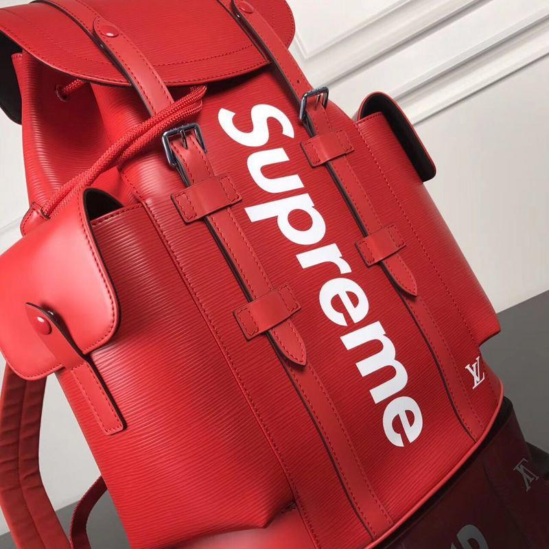 LV x Supreme Backpack red