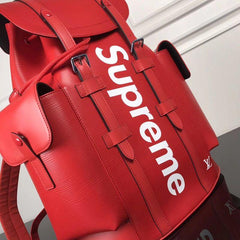 LV x Supreme Backpack red - Grandeur Lux