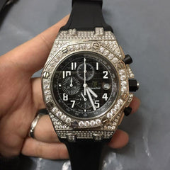 AP automatic chrono full stones case rubber - Grandeur Lux