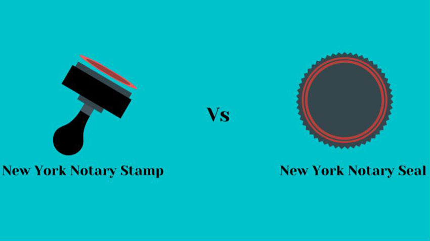 New York Notary Seal Differ