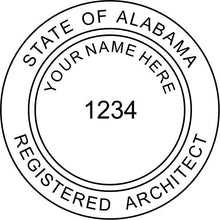 Alabama Architect Stamp and Seal - Prostamps