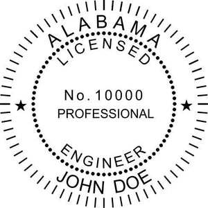 Alabama Engineer Stamp and Seal - Prostamps