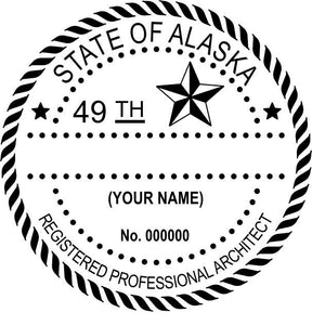 Alaska Architect Stamp and Seal - Prostamps