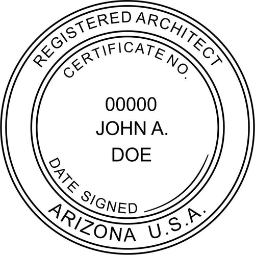 Arizona Architect Stamp and Seal - Prostamps